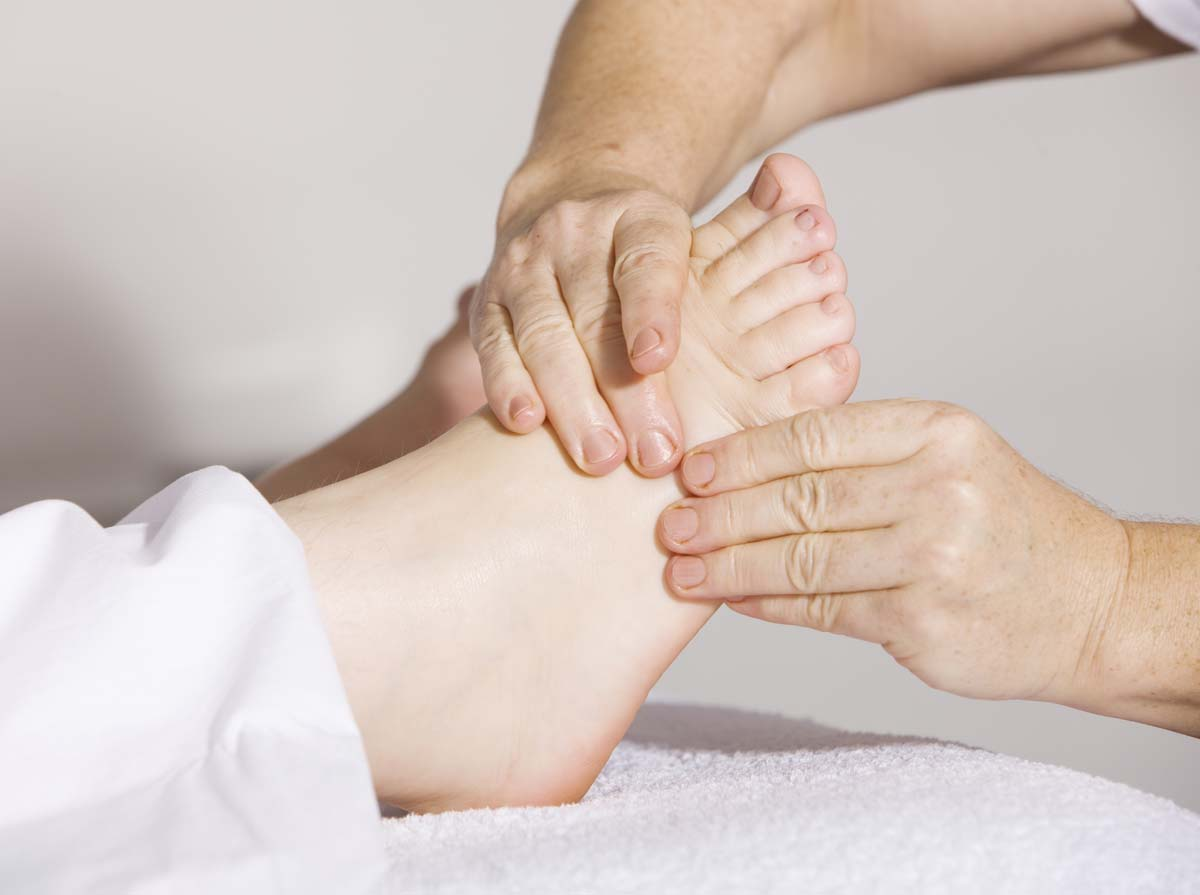 Foot massage from a qualified podiatrist