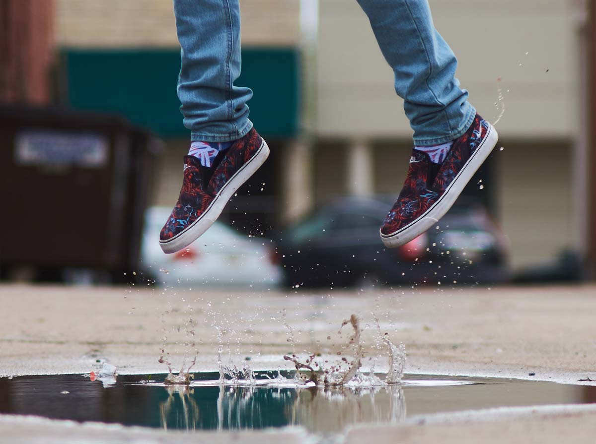 Jump for joy with healthy feet